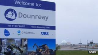 New sign at Dounreay