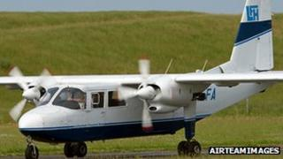 A Britten-Norman Islander, similar to the aircraft involved