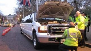 Police checking limousine