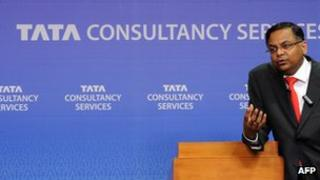 TCS chief executive N Chandrasekaran