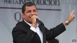 President Rafael Correa of Ecuador (file image)