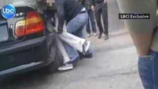 YouTube video showing Alem Dechasa being bundled into a car in Beirut (24 February 2012)
