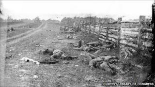 Confederate dead at the Battle of Antietam