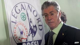 Northern League leader Umberto Bossi - file pic