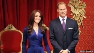 Waxwork of the Duke and Duchess of Cambridge