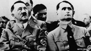 Adolf Hitler and Rudolf Hess