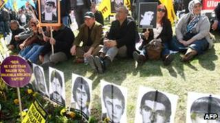 Leftist activists hold rally outside Ankara courthouse, 4 Apr 12
