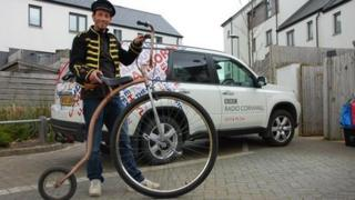 Graham Eccles and his penny-farthing