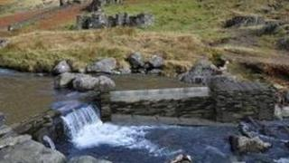 An artist's impression of the proposed weir in Snowdonia