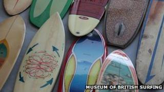 Surf boards. Pic: Museum of British Surfing