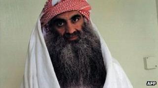 Khalid Sheikh Mohammed, photographed at Guantanamo Bay in 2009