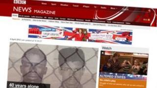 BBC News website screenshot
