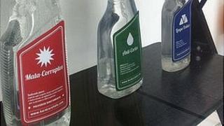 satirical bottle labels