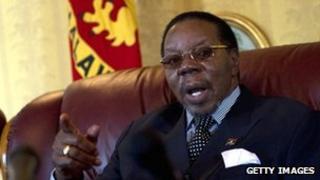 File picture of Malawian President Bingu wa Mutharika from 18 July 2011