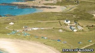 Alderney's Saye Beach campsite