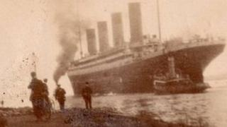 Titanic leaving Belfast