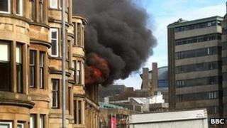 Blaze at tenement flat