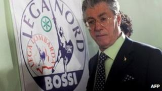 Umberto Bossi (image from a news conference in Milan, 29 March 2010)
