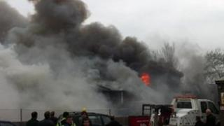 Fire at Granby industrial estate in Weymouth