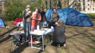 Occupy Totnes camp