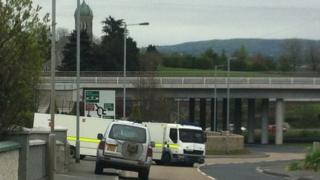 Bomb alert at Cloghogue roundabout
