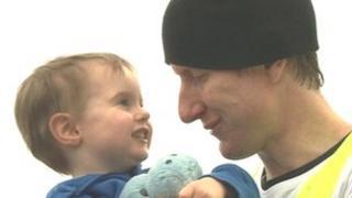Ivan Hollingsworth and son Seb