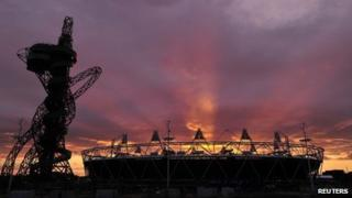 Olympic Park at sunset