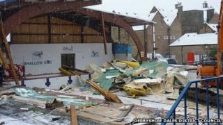 Demolition of Matlock Lido