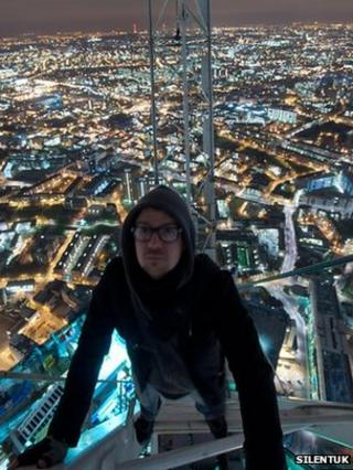 Man on top of Shard