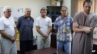 Ukrainians suspected of being Libyan mercenaries in Tripoli (3 Sept 2011)