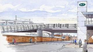 Artists picture of Station Street bridge