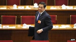 Bo Xilai at the National People's Congress annual sessions in Beijing, 9 March 2012