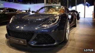 Lotus Exige on display at 2012 Geneva motor show