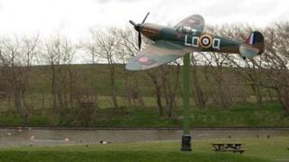 Artist impression of Mark Vb Spitfire W3644 replica