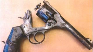 The Webley Revolver used in the attack