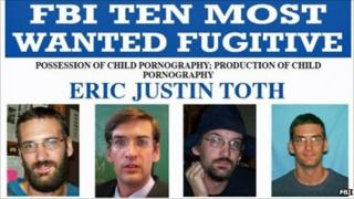 The wanted poster for Eric Justin Toth