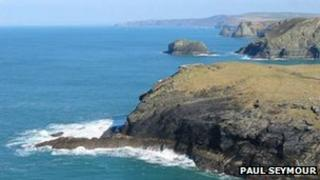 Cliffs near Tintagel: Pic Paul Seymour