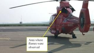 Picture from the AAIB report illustrating the location of the fire