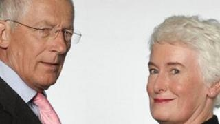 Nick Hewer and Margaret Mountford