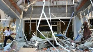 Earthquake damage in Banda Aceh