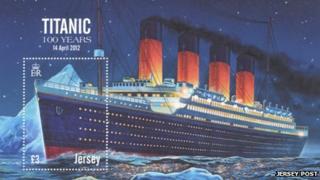 Jersey Post Titanic stamp