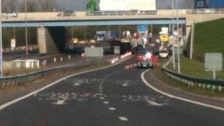 The scene of the M1 crash