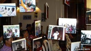 Art installation at a session of Festival Literaria das UPPS in Rio de Janeiro, April 2012