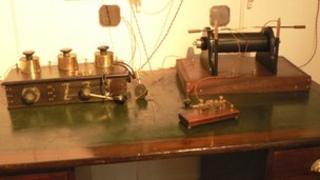 Replica of the Titanic's radio room