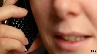 Person on phone. Generic file pic.