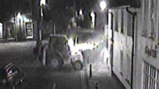 CCTV of the digger