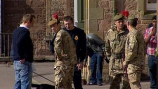 Black Watch soldiers return to Fort George