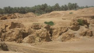 Babylonian ruins in Hilla, Iraq