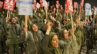 Female MEK militants at Camp Ashraf in 2006