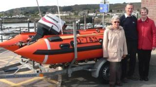 David Cole with his sister Hilary and friend Diane Shirley, who give the boat its name